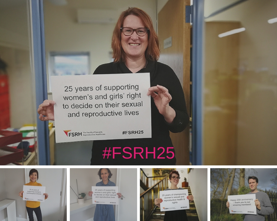 Collage of Members and Staff #FSRH25